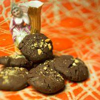Csokoládés, mogyorósvajas keksz