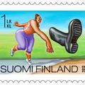 Őrült finn versenyek bélyegeken