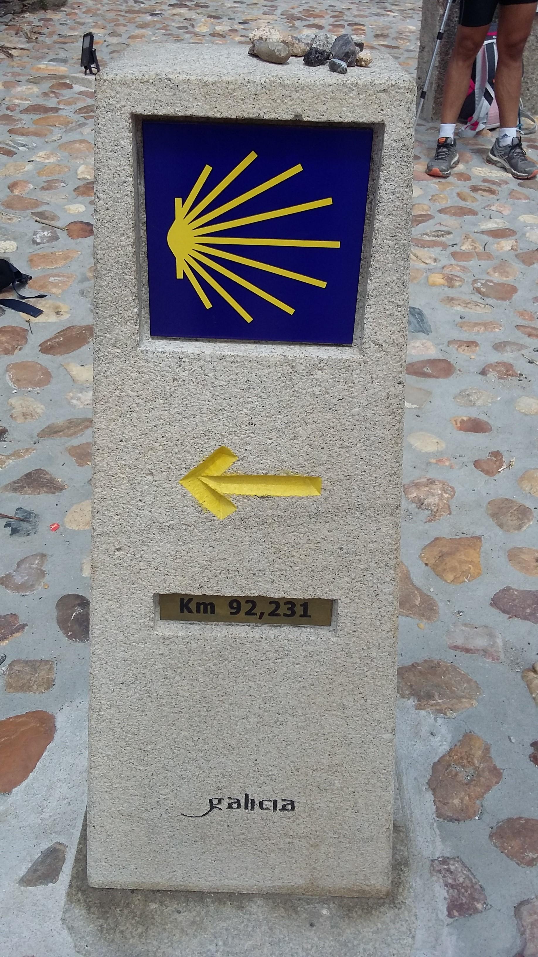 Portomarinban Santiago de Compostela 100 km-en belül