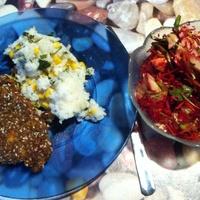 Rántott hús, szénhidrát csökkentett krumplipüré