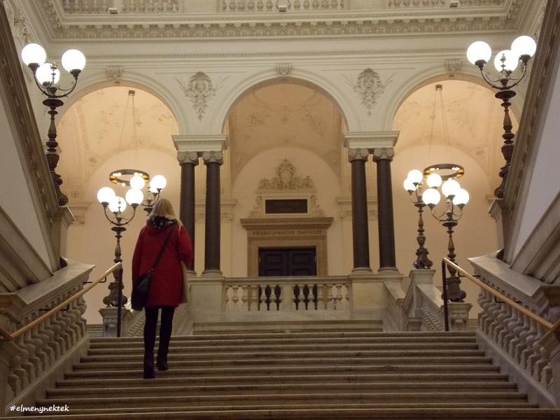 A Bécsi Egyetem (Uni Wien) belső tere.