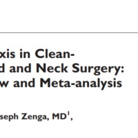 Antibiotikum profilaxis clean-contaminated fej-nyaki műtétek esetén