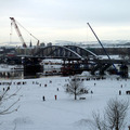 Helyére tették az új hidat Drezdában