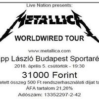 After 8 years I am ready to be hardwired. #metallica #worldwired #metclub #concert #budapest #metallicabudapest #hardwired