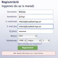 Regisztrációs folyamat: a facebooktól többet várnék
