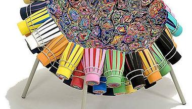 Újrahasznosított textil székek