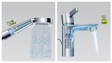 Fürdőszobai csaptelep, ami vizet és energiát spórol helyettünk