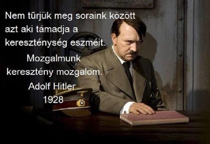Hitler keresztényként élt és öletett
