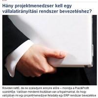 Újabb cikk a Piac és Profit online-on