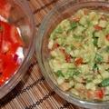 Avokádó salsa egy újabb paradicsom saláta