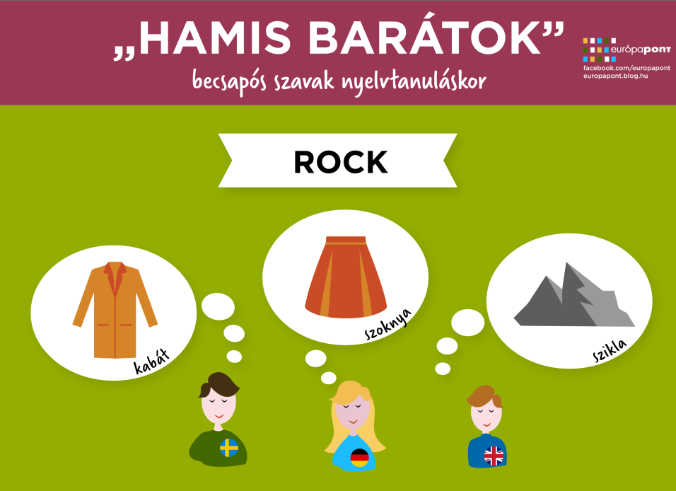 'ROCK' jelentése svédül, németül és angolul