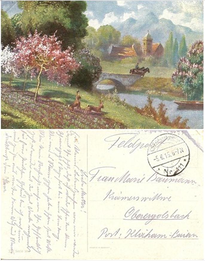 Festett tájkép – egy német katona levele édesanyjának Alsó-Bajorországba az első világháború idejéből.