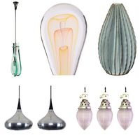 keyword: TEARDROP • max ingrand lantern • ed nesteruk art glass sculpture • bill hudnut ceramic teardrop scone • jo hammerborg for fog&morup orient major aluminium pendant pair • industrial teardrop holophane glass pendant lights • source: 1stdibs