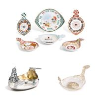 keyword: KOYVSHI • kornilov manufactury six porcelain • N/A • silver imperial presentation • source: sotheby's