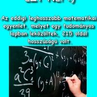 Leghosszabb matematikai egyenlet...