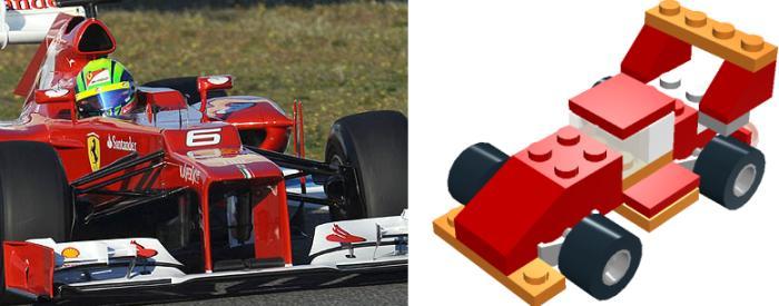 Ferrari legóautó