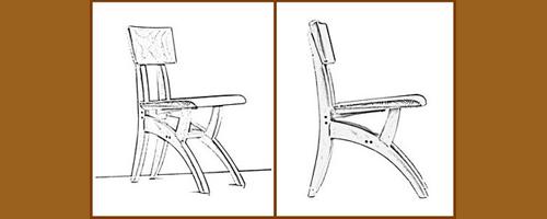 szék rajz