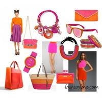 Color Blocking Trend: Narancs és Pink
