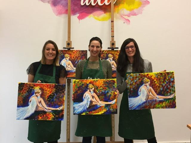 Élményfestésen jártam, saját festménnyel távoztam