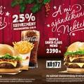 Kedvezményes karácsonyi burgerek