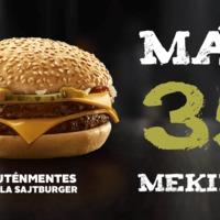 Minden harmadik Mekiben kérhető Gluténmentes Sajtburger!