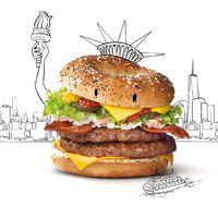 Amerikai bagel burger Hollandiában