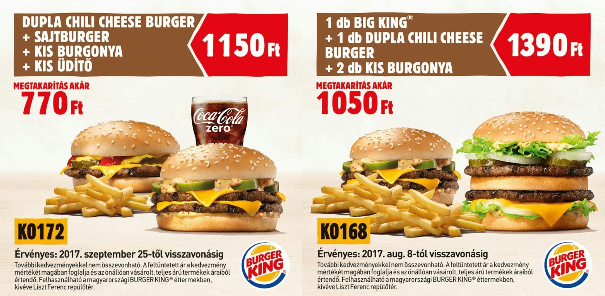 Burger King kupon körkép - Fast Food Central