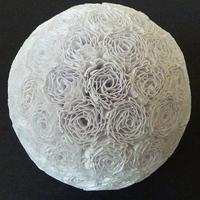 Papírtészta virágdekor