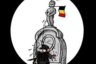 A terroristák nyakába csorgat Manneken Pis