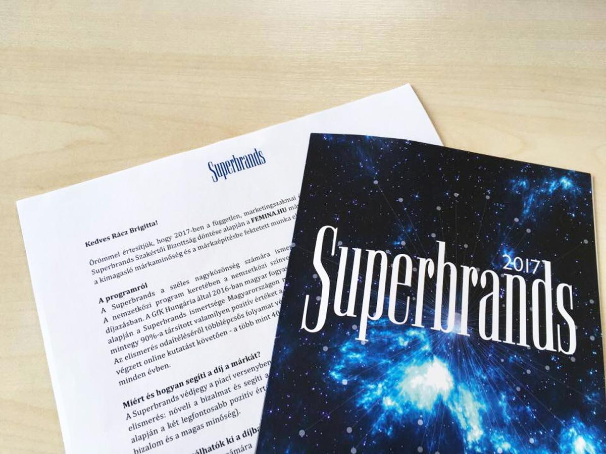 Hatszoros Superbrands Díjas a Femina.hu!