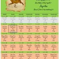 Kínai naptár 2011 április