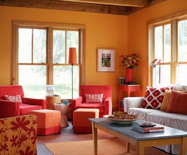 A narancs segít aktivitást vinni egy helyiségbe