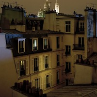 Above the rooftops of Paris