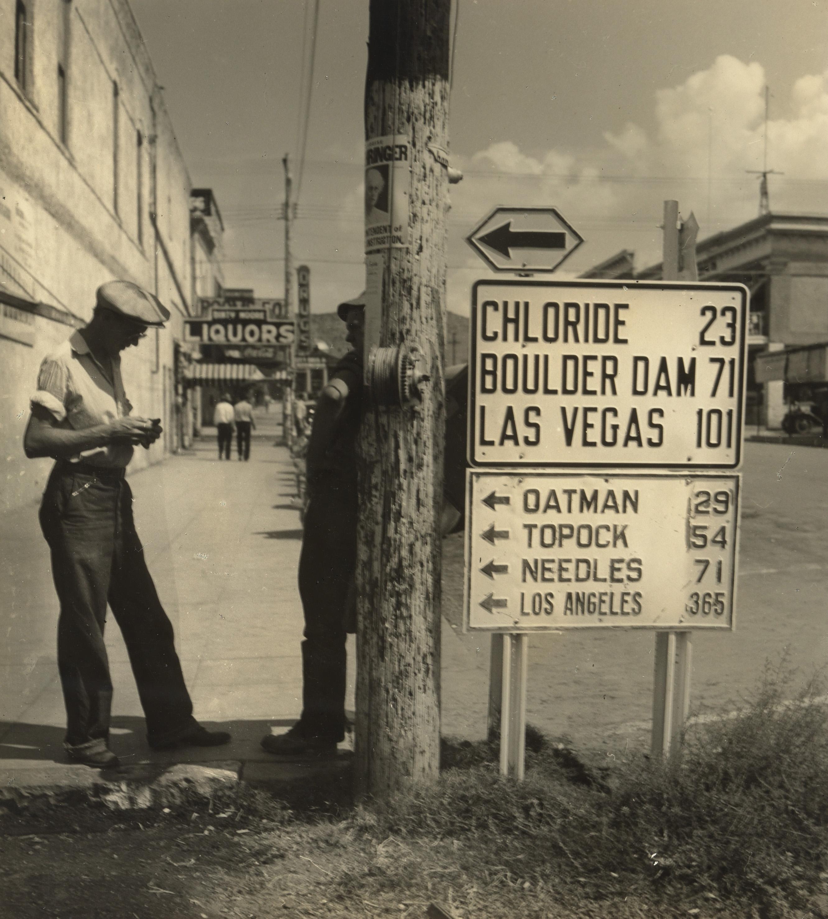 Utcai jelenet, USA 1940.Robert Haas © Wien Museum/Sammlung Robert Haas