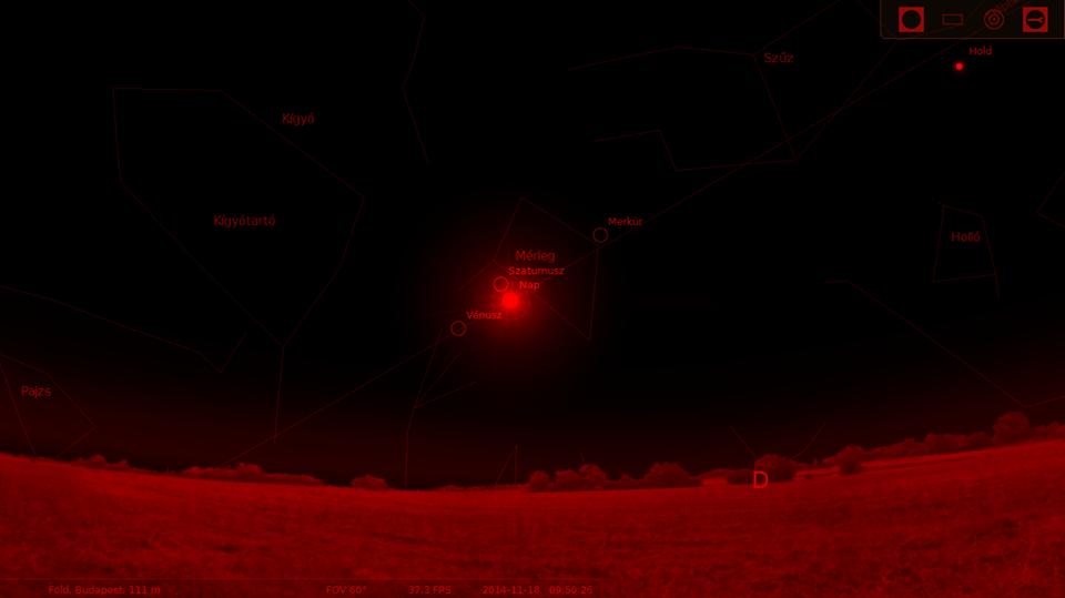 Nap-Szaturnusz együttállás – 2014. november 18.