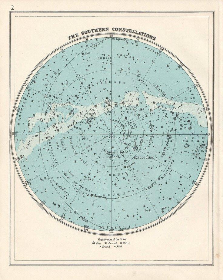A csillagképek helyzete 2014-ben