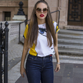 GAS Jeans - Red lips and skinny jeans