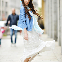 Maxi skirt in bohemian style