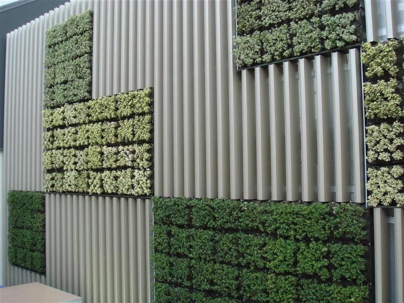 Harland works courtyard ideas on pinterest hundertwasser for Vertical garden panels