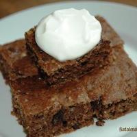 Cukkinis csokis süti újratöltve
