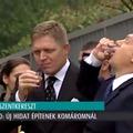 Orbán vizet prédikál és pálinkát iszik