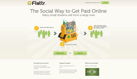 Flattr - Keress pénzt a neten