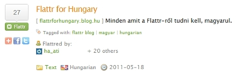 Flattr for Hungary flattred by