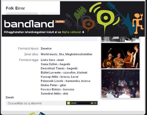 Folk Error - bandland.hu
