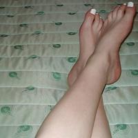 Szexi hazai amatőr lábak