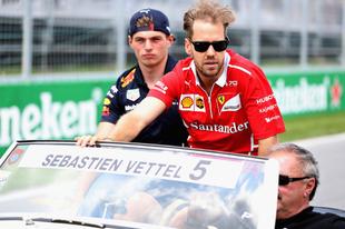 Vettel: Verstappen örülhet, hogy nem kapott defektet