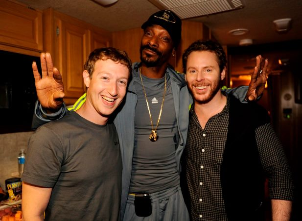 Mark Zuckerberg, Snoop Dogg and Sean Parker.jpg
