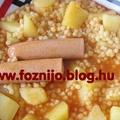 Tarhonyás virslis krumpli