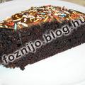 Csokoládé torta tej és tojás nélkül