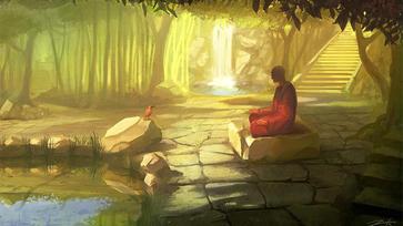 Arcok a meditációs táborból